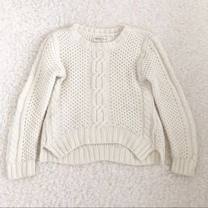 Forever 21 White Knit Sweater Sz 7/8